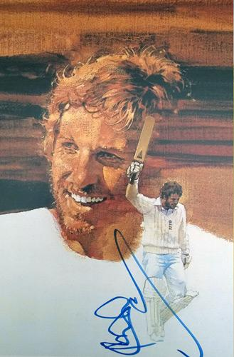 Ian-Botham-autograph-signed-Lords-Taverners-Greatest-cricket-memorabilia-print-page-England-1981-Ashes