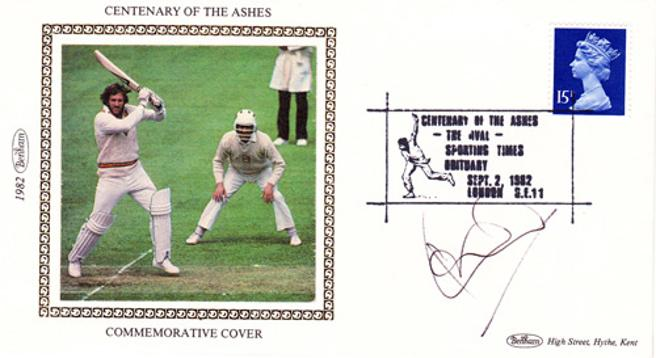 Ian-Botham-autograph-signed-england-cricket-memorabilia-durham-somerset-ccc-beefy-signature-sir-september-2nd-1982-centenary-of-the-ashes-first-day-cover-benham-fdc
