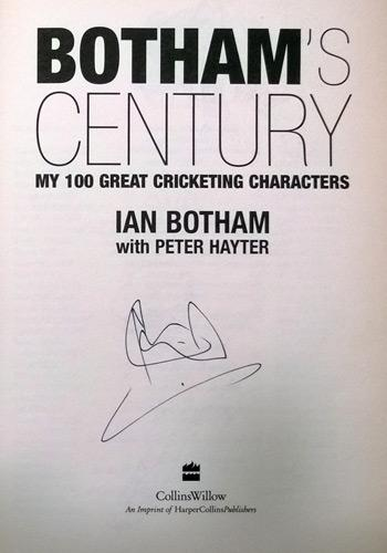 Ian Botham signed copy of Botham's Century