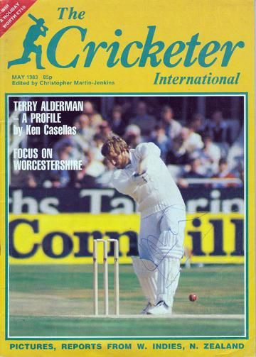 IAN BOTHAM  hand-signed May 1983 Cricketer  magazine cover.