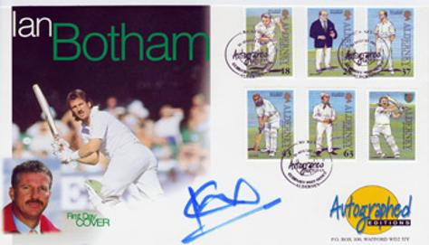 Ian Botham autograph signed England cricket legends first day cover fdc memorabilia signature autographed