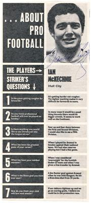Ian-McKechnie-autograph-signed-Hull-City-FC-football-memorabilia-HCFC-signature-scottish-goalkeeper-arsenal-manager-sligo-rovers