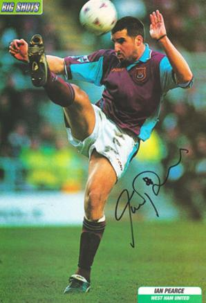 Ian Pearce autograph signed west ham united football memorabilia hammers whufc signature