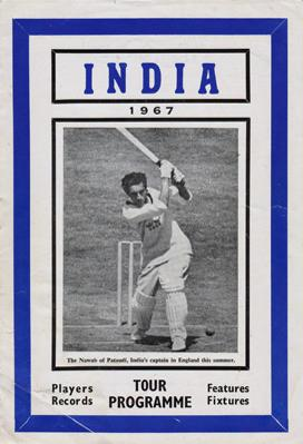 India-cricket-memorabilia-1967-official-tour-programme-booklet-records-players-fixtures-feature-nawab-of-pataudi