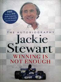 Sir JACKIE-STEWART-memorabilia-signed-autobiography-Winning-is-not-Enough-formula-one-memorabilia-autograph
