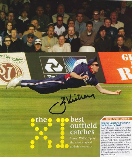 JAMES-KIRTLEY-autograph-signed-Sussex-cricket-memorabilia-England-test-match-cricket-bowler-greatest-catch-ganguly-india-odi-2002