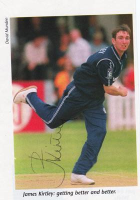 JAMES-KIRTLEY-autograph-signed-Sussex-cricket-memorabilia-England-test-match-cricket-fast-bowler-ccc