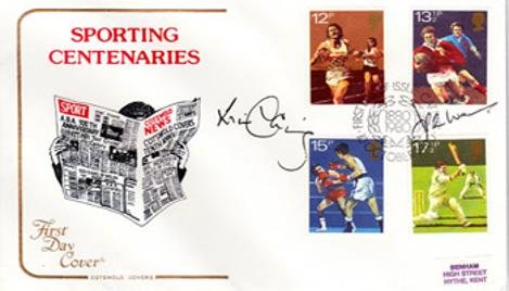 JPR WILLIAMS memorabilia & WILL CARLING memorabilia signed Sporting Centenaries First Day Cover rugby memorabilia autograph FDC