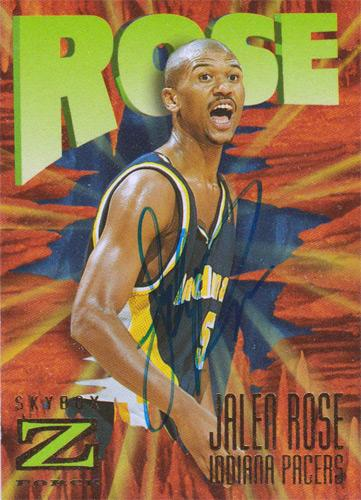 Jalen-Rose-autograph-signed-Indiana-Pacers-NBA-memorabilia-basketball-Michigan-Wolverines-Fab-Five-ESPN