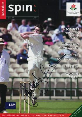 James-Anderson-autograph-signed-lancashire-cricket-memorabilia-lancs-ccc-England-test-match-jimmy-spin-magazine-cover-signature-2001-jimmy