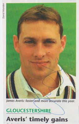 James-Averis-autograph-signed-Gloucs-ccc-cricket-memorabilia-County-fast-bowler-gloucestershire-signature