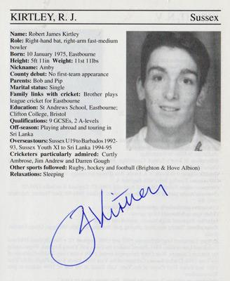 James-Kirtley-autograph-signed-Sussex-cricket-memorabilia-signature-england-bowler-1995-county-cricketers-whos-who
