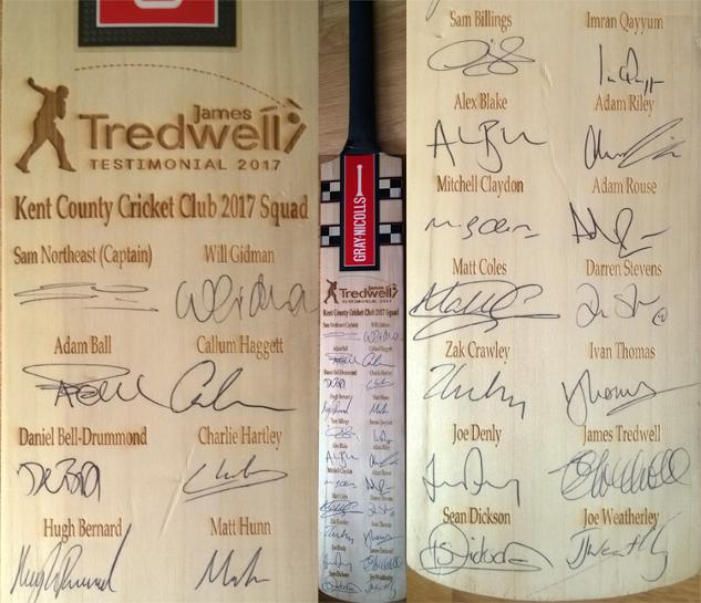 James-Tredwell-autograph-Treddy-Testimonial-2017-Tredders-signed-Gray-Nicolls-cricket-bat-Sam-Northeast-Billings-Jason-Gillespie-Denly-Matt-Coles-Walker-Kent-CCC