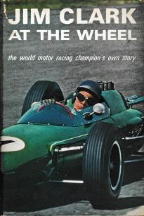 Jim-Clark-memorabilia-at-the-wheel-autobiography-book-1964-first-edition-world-motor-racing-champions-own-story-arthur-barker-f1