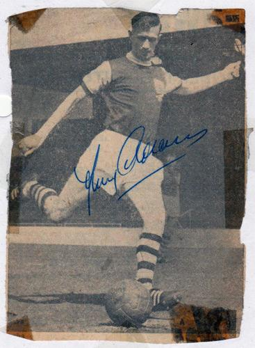 Jimmy-Adamson-autograph-signed-Burnley-FC-football-memorabilia-turf-moor-Footballer-of-the-Year-in-1962