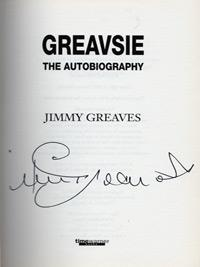 JIMMY GREAVES (Chelsea, AC Milan, Spurs, West Ham & England) signed copy of