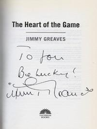 Jimmy-Greaves-signed-football-memorabilia-book-autograph-Spurs-Chelsea-Heart-of-the-Game-signature-200