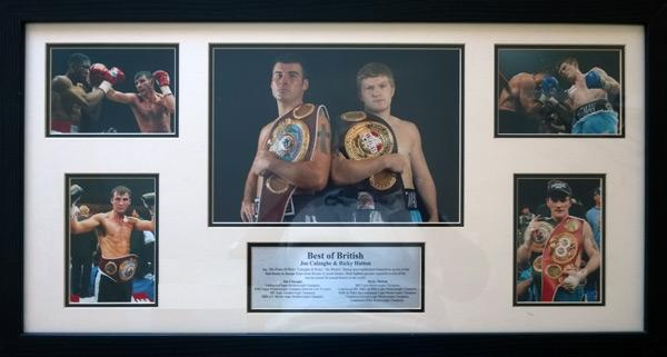 Joe-Calzaghe-memorabilia-Ricky-Hatton-World-Champion-Best-of-British-Boxing-Legends-montage