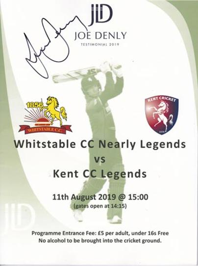 Joe-Denly-autograph-signed-Whitstable-cc-Kent-cricket-legends-t20-testimonial-programme