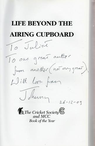 John-Barclay-memorabilia-John-Barclay-autograph-signed-autobiography-Life-Beyond-the-Airing-Cupboard-Sussex-CCC-captain-Sussex-cricket-memorabilia-signature