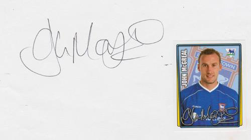 John-McGreal-autograph-signed-Ipswich-Town-Football-memorabilia-tractor-boys-2010-11-premier-league-player-card-sticker-Colchester manager