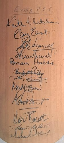 John-Shepherd-autograph-signed-Kent-cricket-memorabilia-KCCC-West-Indies-Essex-Sussex-Hampshire-Cowdrey-Underwood-Tavare-Ealham-Downton-gray-nicolls-bat