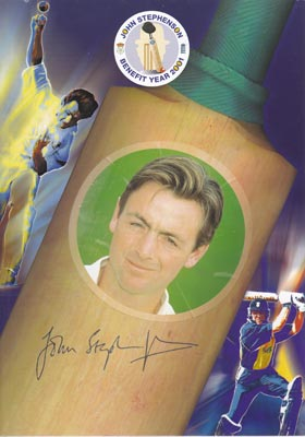 John-Stephenson-autograph-signed-2001-benefit-year-brochure-hampshire-cricket-memorabilia-hants-essex-ccc