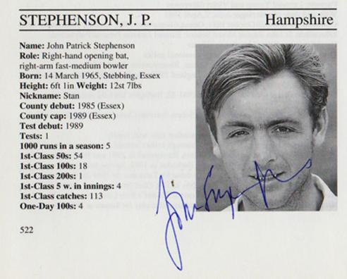 John-Stephenson-autograph-signed-hampshire-cricket-memorabilia-hants-essex-ccc-england-batsman-whos-who-signature-mcc