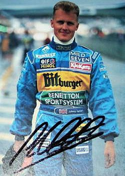 JOHNNY HERBERT memorabilia signed F1 Benetton racing photo formula one memorabilia