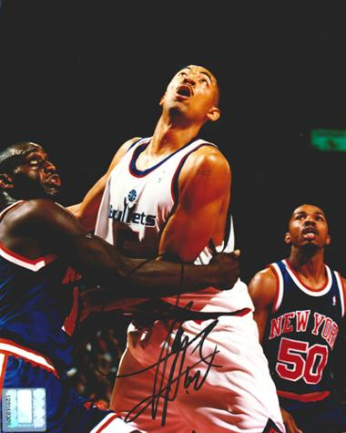Juwan-Howard-autograph-signed-Washington-Bullets-NBA-memorabilia-Wizards-basketball-Miami-Heat-Michigan-Wolverines-Fab-Five-center