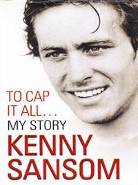 KENNY SANSOM memorabilia signed autobiography book To Cap It All My Story Arsenal football memorabilia