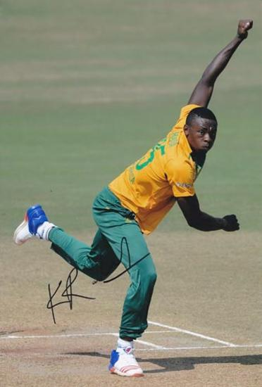 Kagiso-Rabada-autograph-signed-south-africa-cricket-memorabilia-kg-fast-bowler-kent-ccc-proteas-gauteng-lions-jozi-stars-signature
