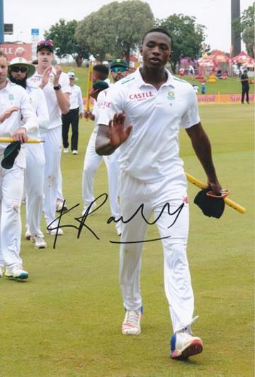 Kagiso-Rabada-autograph-signed-south-africa-cricket-memorabilia-kg-fast-bowler-kent-ccc-proteas-jozi-stars-gauteng-lions-signature