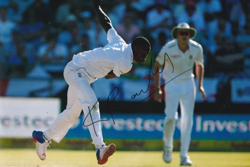 Kagiso-Rabada-autograph-signed-south-africa-cricket-memorabilia-kg-fast-bowler-kent-ccc-proteas-lions-gauteng-jozi-stars-signature