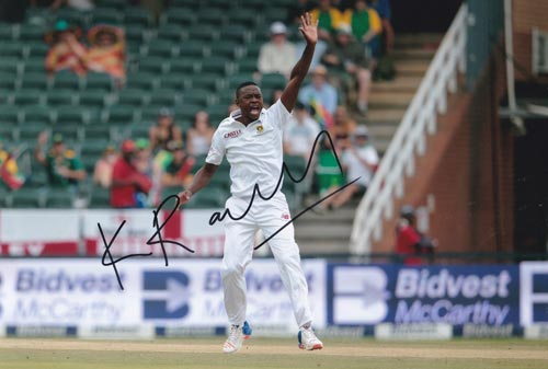 Kagiso-Rabada-autograph-signed-south-africa-cricket-memorabilia-kg-fast-bowler-kent-ccc-proteas-lions-jozi-stars-gauteng-signature