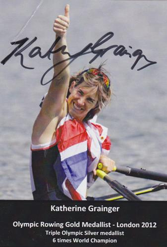 Katherine-Grainger-Kathy signed-London-2012-Olympics-gold-medalist-photo-card-rowing-autograph