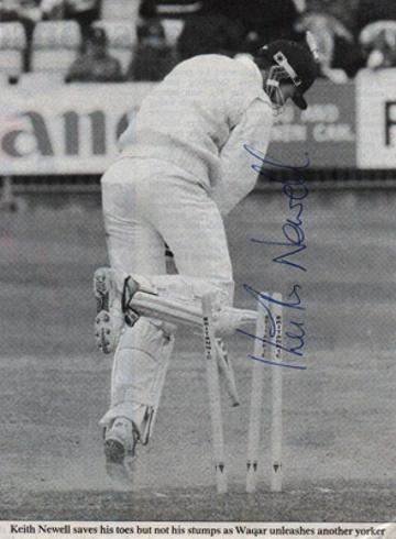 Keith-Newell-autograph-signed-Sussex-cricket-memorabilia-SCCC-county-batsman