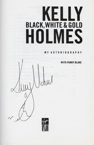 Kelly-Holmes-autograph-signed-athletics-memorabilia-autobiography-black-white-and-gold-800-m-1500-metres-olympic-champion-gold-2