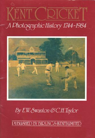 Kent-Cricket-memorabilia-EW-Jim-Swanton-autograph-signed-book-photographic-history-1744-1984-CH-Chris-taylor-brochure-booklet-kccc-signature-first-edition
