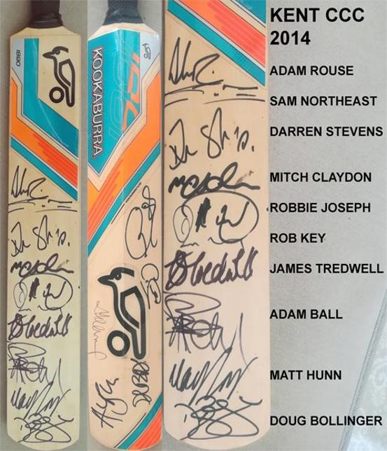 Kent-cricket-memorabilia-2014-squad-signed-kookaburra-mini-bat-stevens-billings-jones-bollinger-dbd-rob-key-autograph-northeast-kccc-spitfires