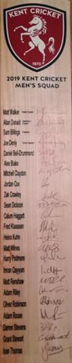 Kent-cricket-memorabilia-2019-mens-squad-bat-sam-billings-autrograph-darren-stevens-signed-denly-crawley-claydon-walker-donald-kuhn-kccc-spitfires