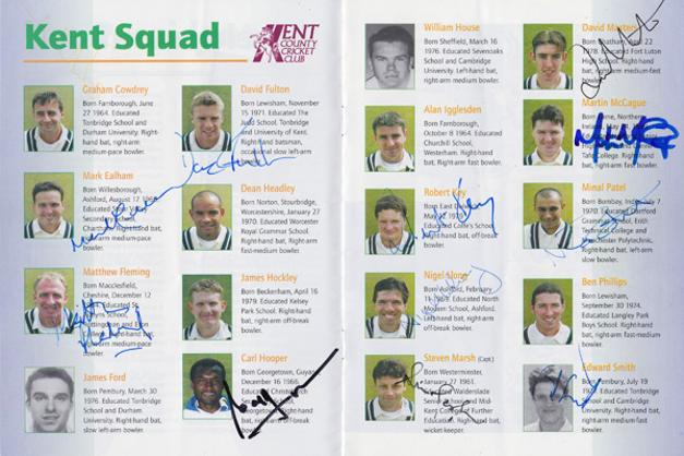 Kent-cricket-memorabilia-KCCC-memorabilia-signed-South-Africa-cricket-memorabilia-1998-tour-programme-autograph-St-Lawrence-ground-Proteas-england-test-rob-key-memorabilia