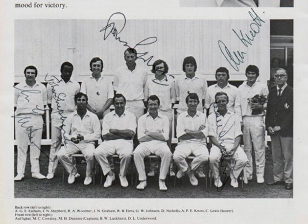 Kent-cricket-memorabilia-signed-1973-Benson-and-Hedges-Cup-Final-programme-Lords-autograph-Norman-Graham-Ealham-Alan-Knott-Underwood-Shepherd-KCCC-Worcs