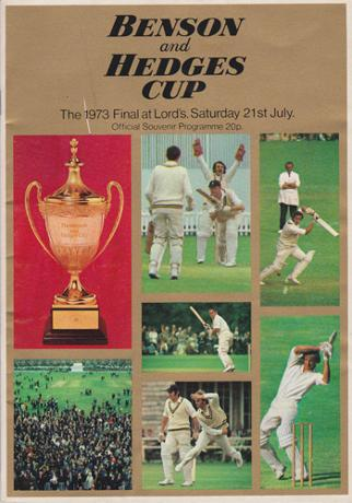 Kent-cricket-memorabilia-signed-1973-Benson-and-Hedges-Cup-Final-programme-Lords-autograph-Norman-Graham-Alan-Knott-Underwood-Shepherd-Ealham-KCCC-Worcs