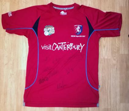 Kent-cricket-memorabilia-signed-shirt-one-day-2017-WCIB-regional-super-50-overs-competition-west-indies-visit-canterbury-antiqua-autographs-spitfires-kccc