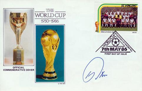 Kerry Dixon signed 1986 World Cup Finals first day cover Football memorabilia sports 350