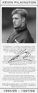 Kevin-Pilkington-autograph-signed-Man-Utd-football-memorabilia-autographed-photo-Manchester-United-signature-goalkeeper
