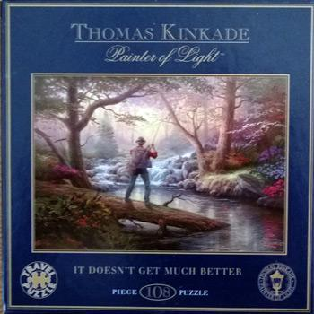 Thimas Kinkade Fly Fishing jigsaw Doesnt Get Much Better