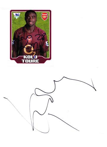 Kolo-Toure-autograph-signed-Arsenal-FC-football-memorabilia-player-sticker-Gunners