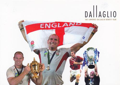 LAWRENCE-DALLAGLIO-autograph-memorabilia-signed-illustrated-history-autobiography-book-Wasps-rugby-memorabilia-world-cup-England-captain-benefit-2004